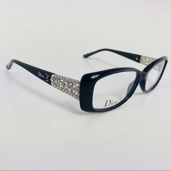d4bd6c0791c2 Christian Dior Eyeglasses CD3184 Black Rhinestones